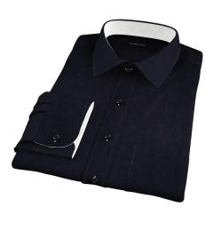 Black Heavy Oxford Men's Dress Shirt