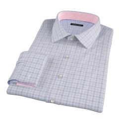 Thomas Mason Lavender Multi Check Dress Shirt