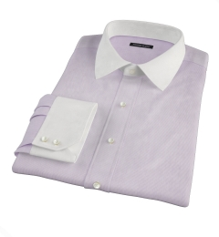 Canclini Purple Fine Stripe Custom Dress Shirt