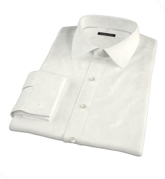 Canclini Cream Beacon Flannel Custom Dress Shirt