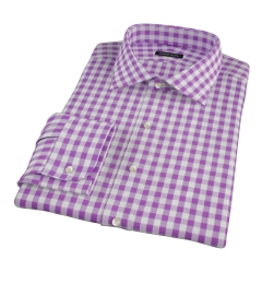 Lavender Large Gingham Custom Dress Shirt