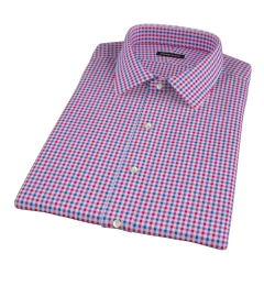 Red and Blue Gingham Short Sleeve Shirt