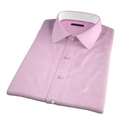 Thomas Mason Pink Prince of Wales Check Short Sleeve Shirt
