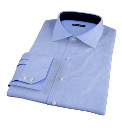 Stanton 120s Sky Blue End-on-End Fitted Shirt