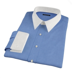 Dark Blue 100s End-on-End Fitted Shirt