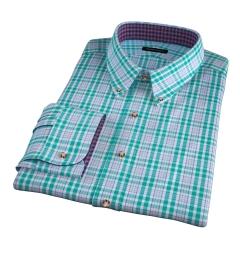 Amalfi Green and Blue Multi Check Custom Made Shirt