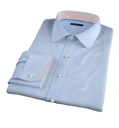 Waverly Light Blue Check Fitted Dress Shirt
