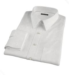 White 100s Broadcloth Men's Dress Shirt