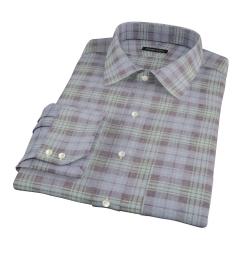 Satoyama Faded Blackwatch Plaid Men's Dress Shirt