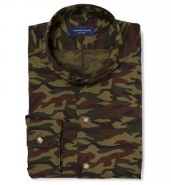 Fatigue Camouflage Print Custom Dress Shirt