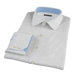 Canclini White Imperial Basketweave Custom Dress Shirt