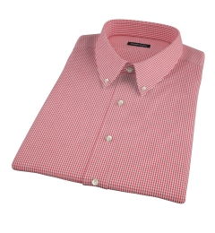 100s Red Mini Gingham Short Sleeve Shirt