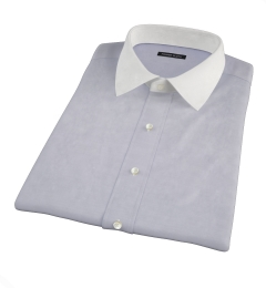 Grey 100s End-on-End Short Sleeve Shirt