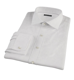 Carmine Pink Fine Stripe Custom Made Shirt