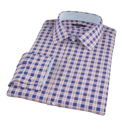 Rust Blue Tacoma Check Flannel Dress Shirt