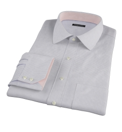 Canclini Grey Mini Gingham Custom Made Shirt