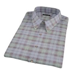 Satoyama Faded Blackwatch Plaid Short Sleeve Shirt