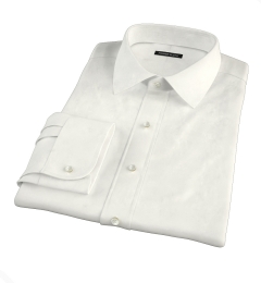 Canclini Cream Beacon Flannel Fitted Dress Shirt