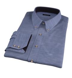 Walker Blue Lightweight Chambray Men's Dress Shirt