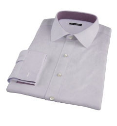 Lavender Wrinkle Resistant Mini Herringbone Custom Dress Shirt