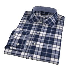 Canclini Slate Plaid Beacon Flannel Fitted Shirt