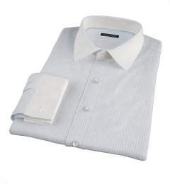 Canclini Light Blue Medium Stripe Custom Dress Shirt