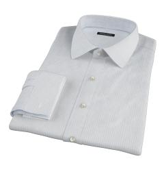 Light Blue 80s Grid Pinpoint Dress Shirt
