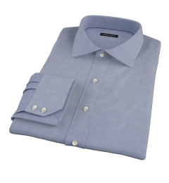 Blue 100s Pinpoint Dress Shirt