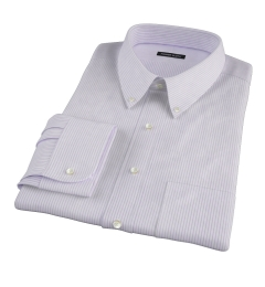 Canclini Lavender Stripe Tailor Made Shirt