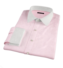 Pink 80s Broadcloth Custom Made Shirt