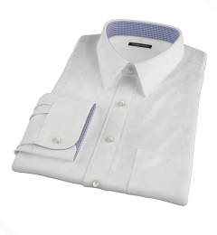 Canclini 120s White Royal Oxford Custom Dress Shirt