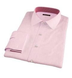 Morris Pink Wrinkle-Resistant Houndstooth Custom Dress Shirt