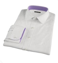 Thomas Mason Goldline White Fine Twill Fitted Shirt