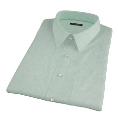 Light Green Heavy Oxford Cloth Short Sleeve Shirt
