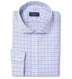 Thomas Mason Lavender Multi Check Fitted Shirt