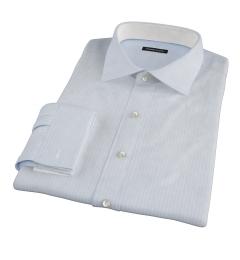Thomas Mason Light Blue Vintage Stripe Fitted Shirt