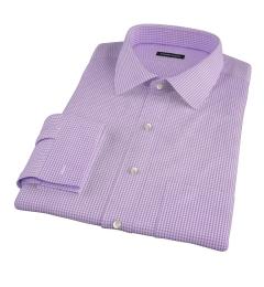 Vestry Lavender Mini Gingham Fitted Shirt