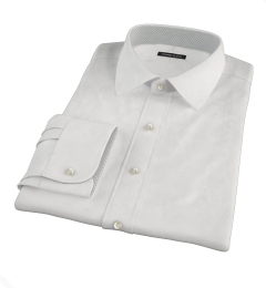 White Wrinkle Resistant 80s Broadcloth Custom Made Shirt