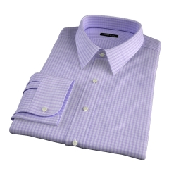 Trento 100s Lavender Check Men's Dress Shirt