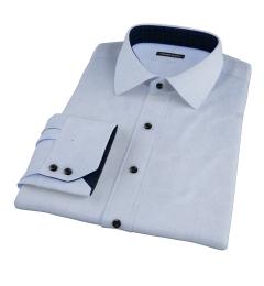 Morris Light Blue Wrinkle-Resistant Glen Plaid Custom Made Shirt
