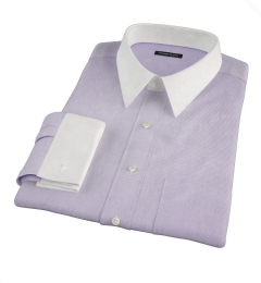 Thomas Mason Lavender Mini Grid Custom Made Shirt
