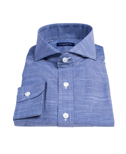 Brisbane Dark Blue Tailor Made Shirt