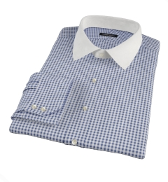 Medium Navy Gingham Custom Made Shirt