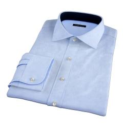 Miles Light Blue 120s Broadcloth Dress Shirt