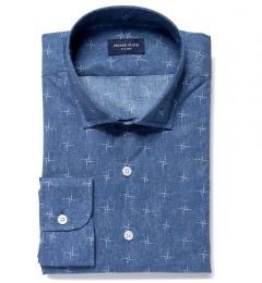 Katazome Faded North Star Print Tailor Made Shirt