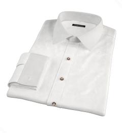 Thomas Mason White Fine Twill Custom Dress Shirt