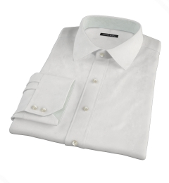 Albini White Regal Twill Custom Dress Shirt