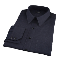 Black 100s Twill Custom Made Shirt
