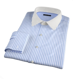 Thomas Mason Light Blue End-on-End Stripe Tailor Made Shirt