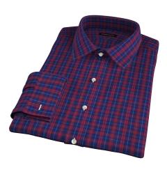 Vincent Blue and Scarlet Plaid Dress Shirt